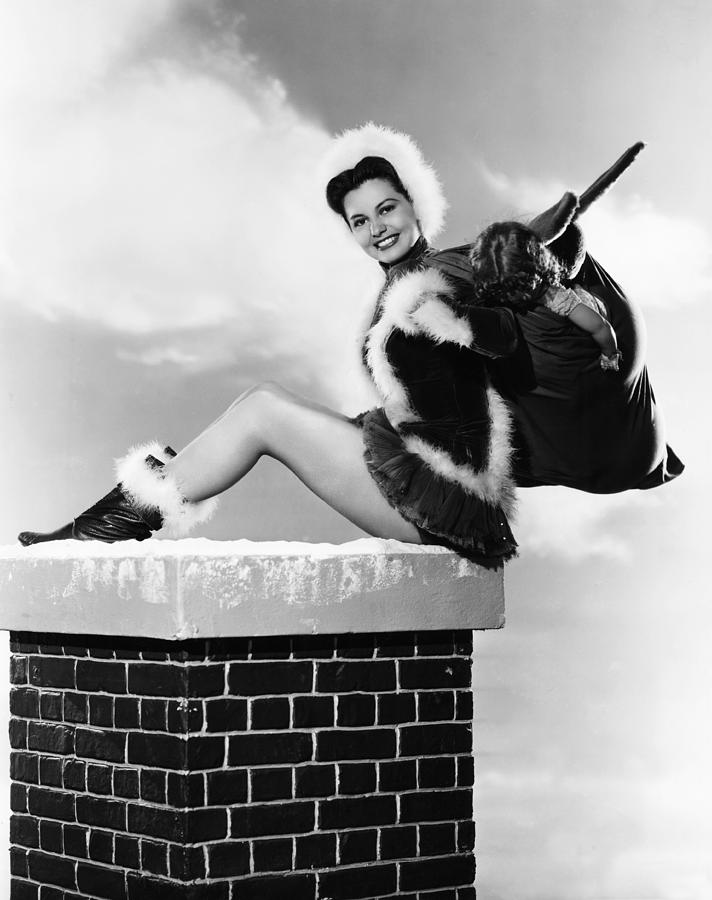Charisse Photograph - Cyd Charisse, Mgm Christmas Pin-up by Everett