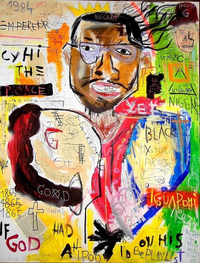 Rap Painting - Cyhi The Prynce by Matthieu Ruffet