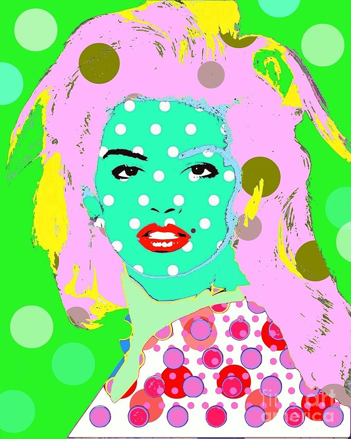 Supermodel Digital Art - Cyndi Crawford by Ricky Sencion