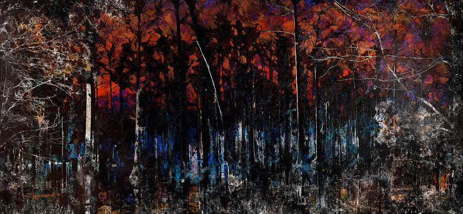 Cypress Swamp Abstract #1 by Alan Sherlock
