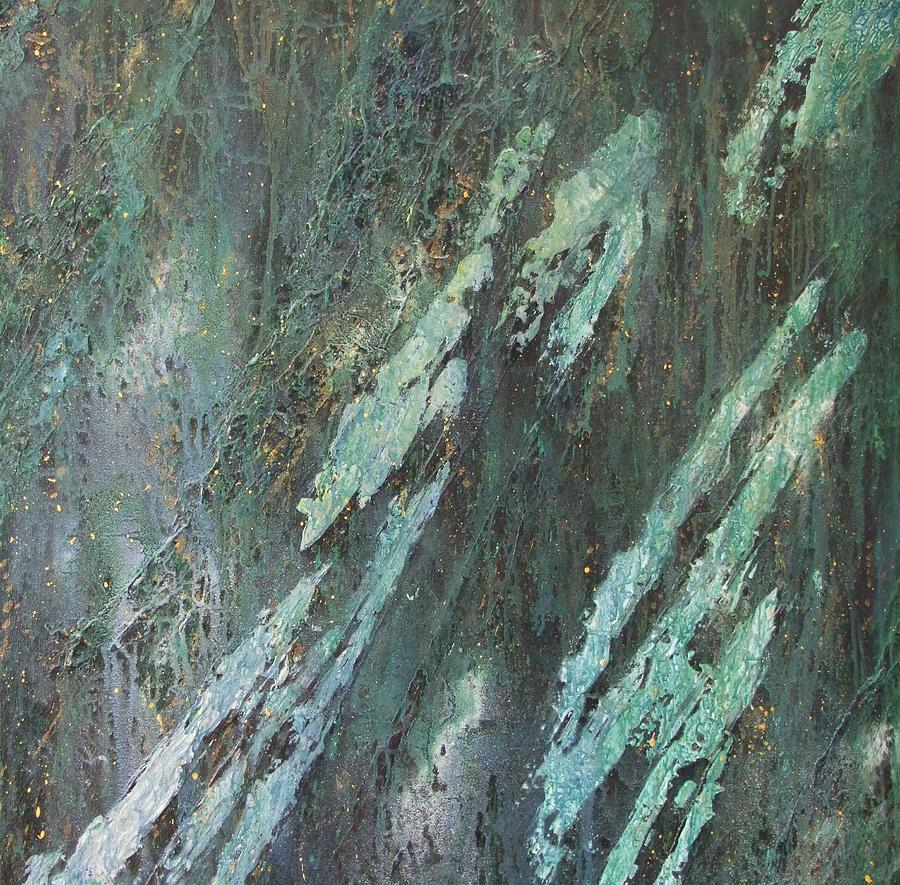Artistic Composition Painting - Cyprium Opus-001 by Pat Bullen-Whatling