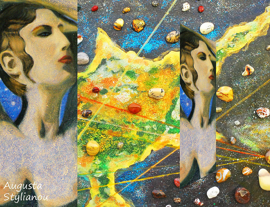 Canvas Prints Painting - Cyprus And Aphrodite by Augusta Stylianou