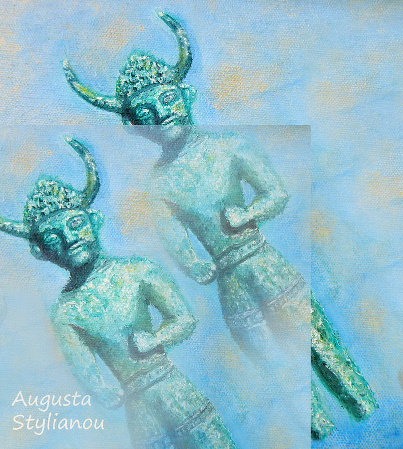 Cyprus Painting - Cyprus Gods Of Trade. by Augusta Stylianou