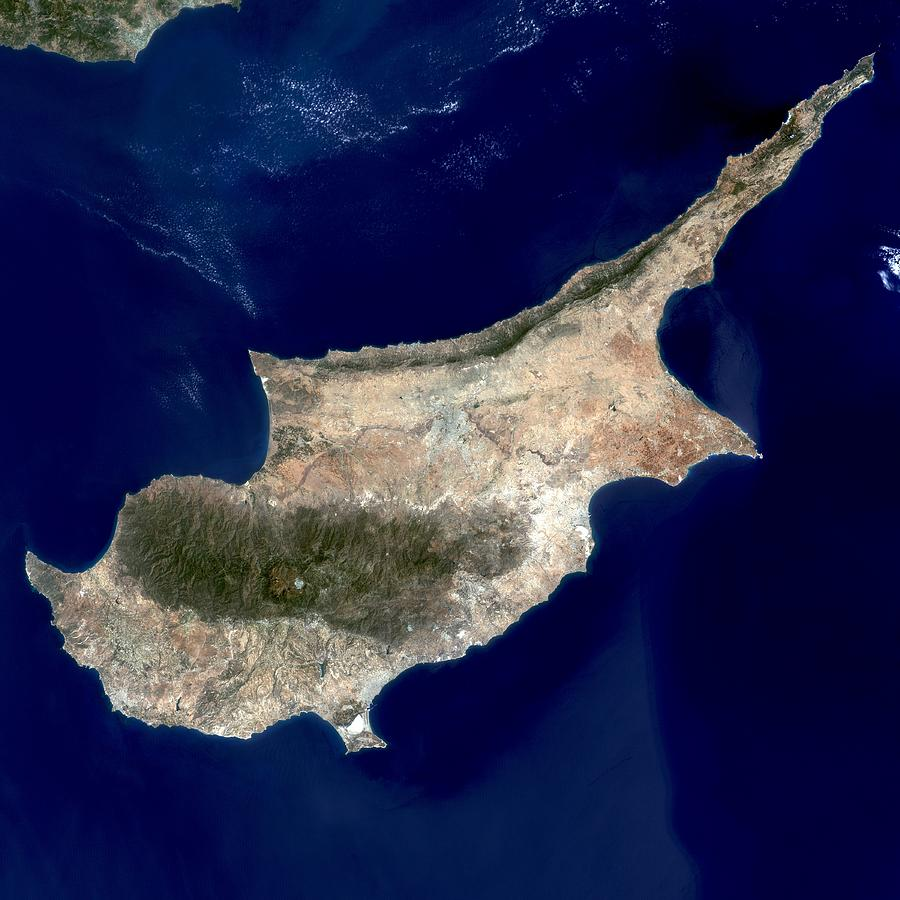 Cyprus satellite image photograph by science photo library cyprus photograph cyprus satellite image by science photo library gumiabroncs Gallery