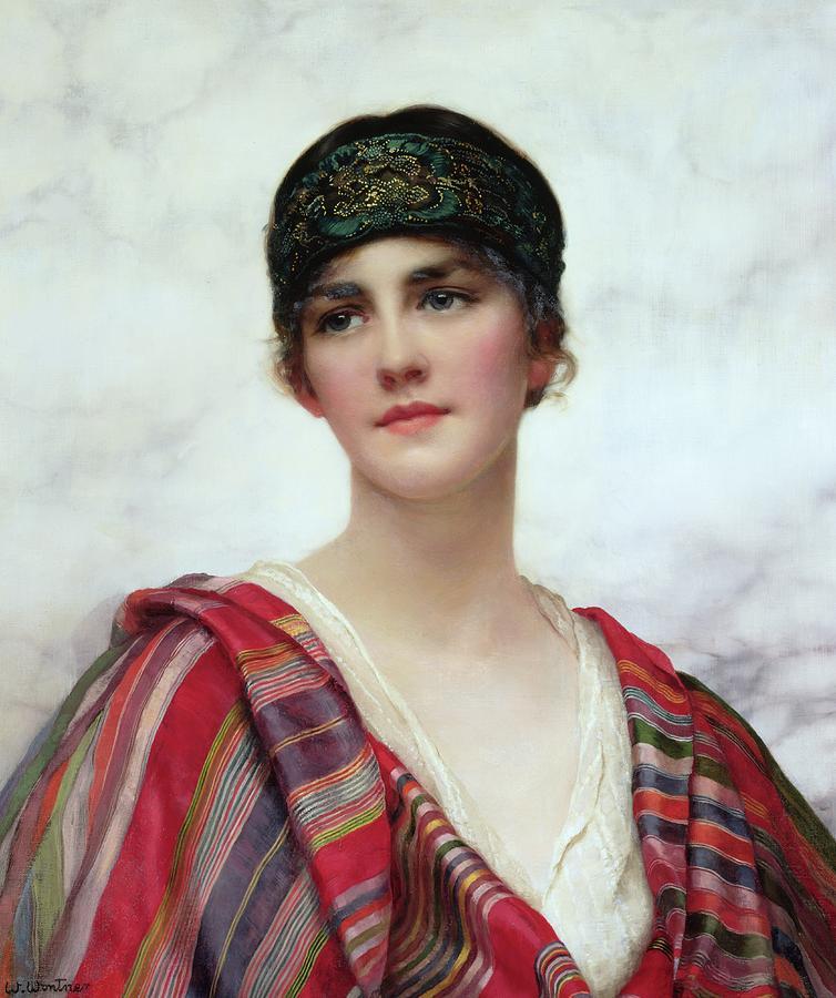 Cyrene Painting - Cyrene by William Clark Wontner