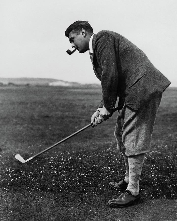 Cyril tolley playing golf photograph by artist unknown