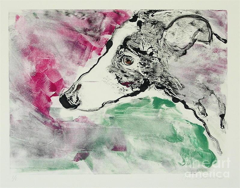 Greyhound Painting - Cyrus by Cori Solomon