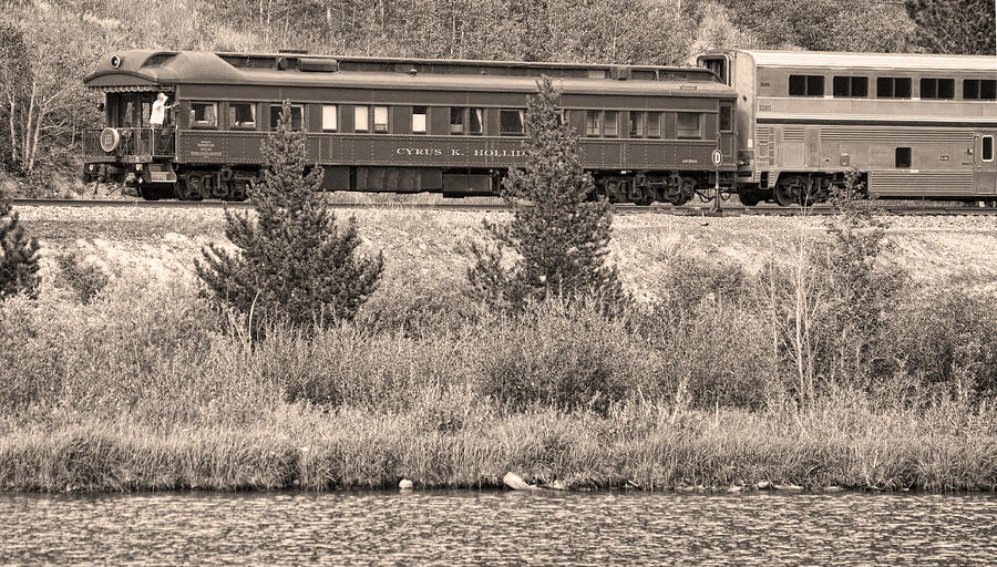 Caboose Photograph - Cyrus K  Holliday Private Rail Car Bw Sepia by James BO  Insogna