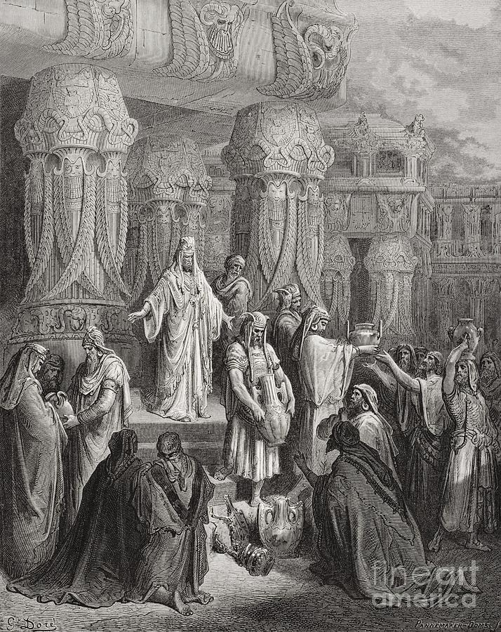 Amphorae Painting - Cyrus Restoring The Vessels Of The Temple by Gustave Dore