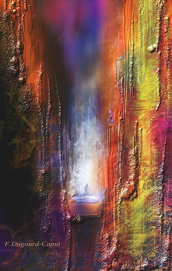 Abstract Painting - Cythere by Francoise Dugourd-Caput