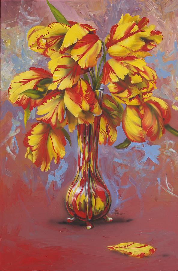 Tulips Painting - Czech Tulips by Lynette Yencho