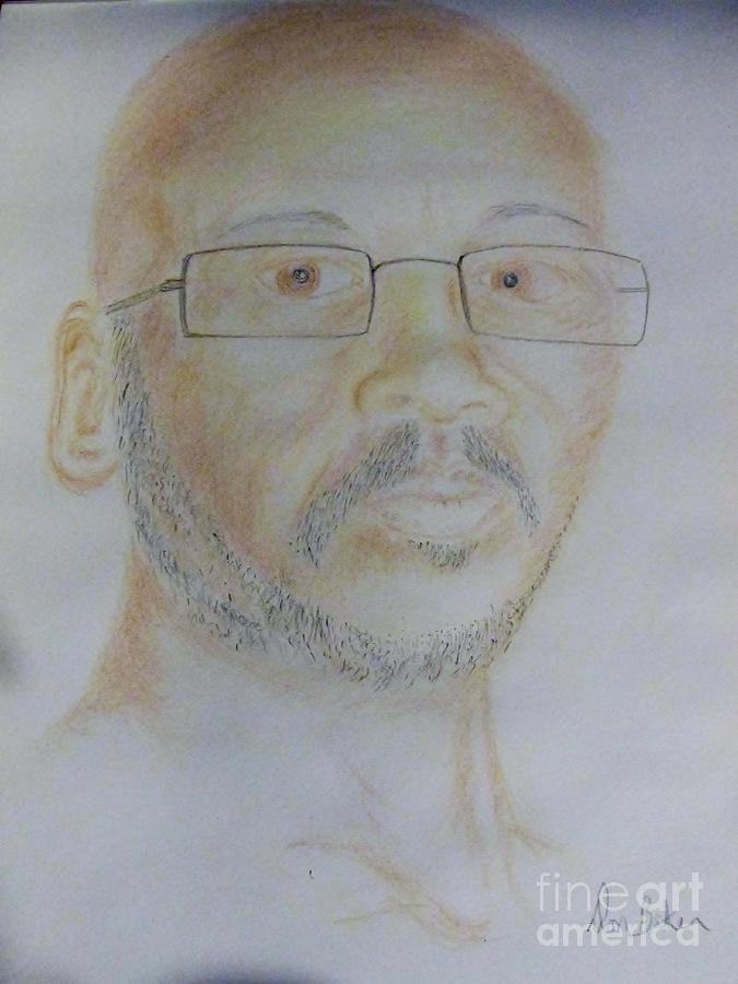 Portrait Drawing - Baker by Don Baker