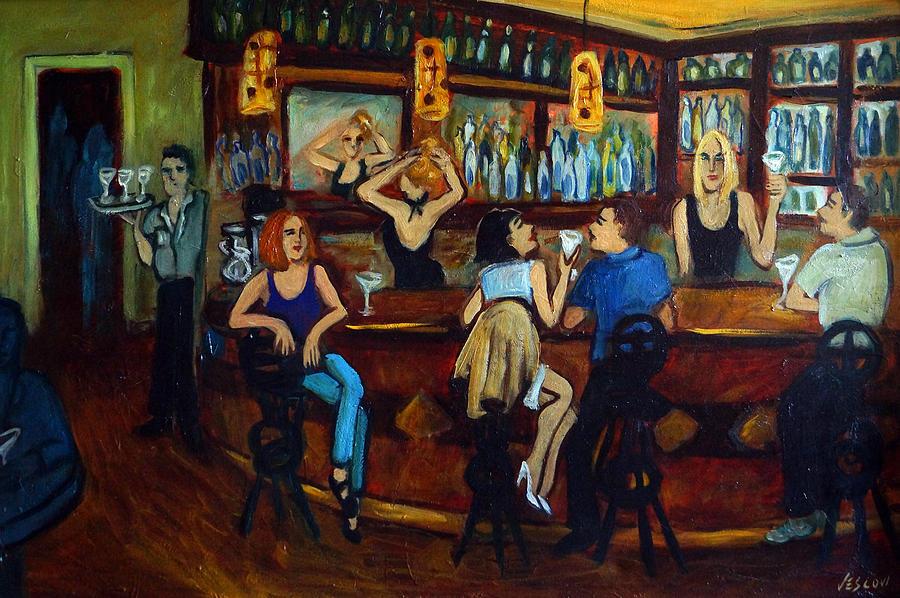 Restaurant Painting - Da Da by Valerie Vescovi