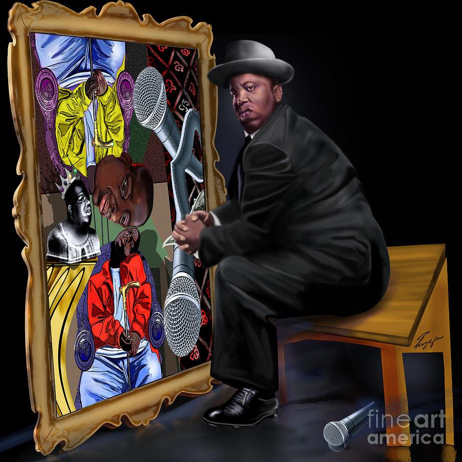 Da Picasso N Biggie Painting By Reggie Duffie