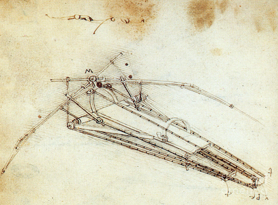 Science Photograph - Da Vinci Flying Machine 1485 by Science Source