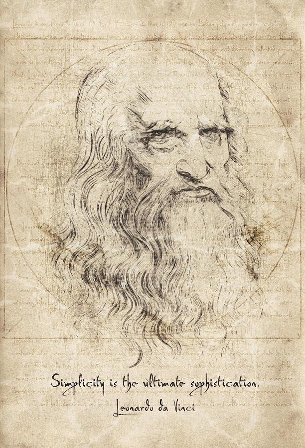 Da Vinci Quote Drawing