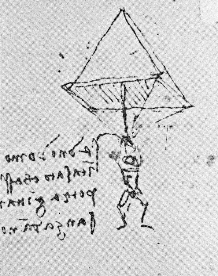 Parachute Photograph - Da Vincis Parachute by Science Photo Library