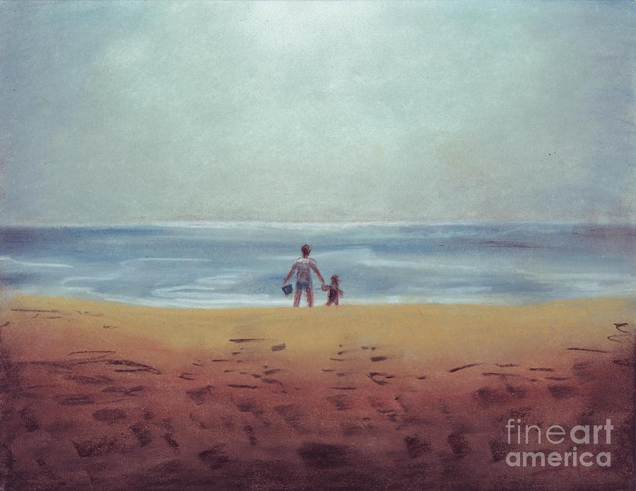 Daddy Drawing - Daddy At The Beach by Samantha Geernaert