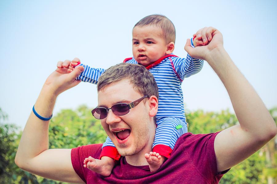 Baby Photograph - Daddys Love by Sravanth Gajula