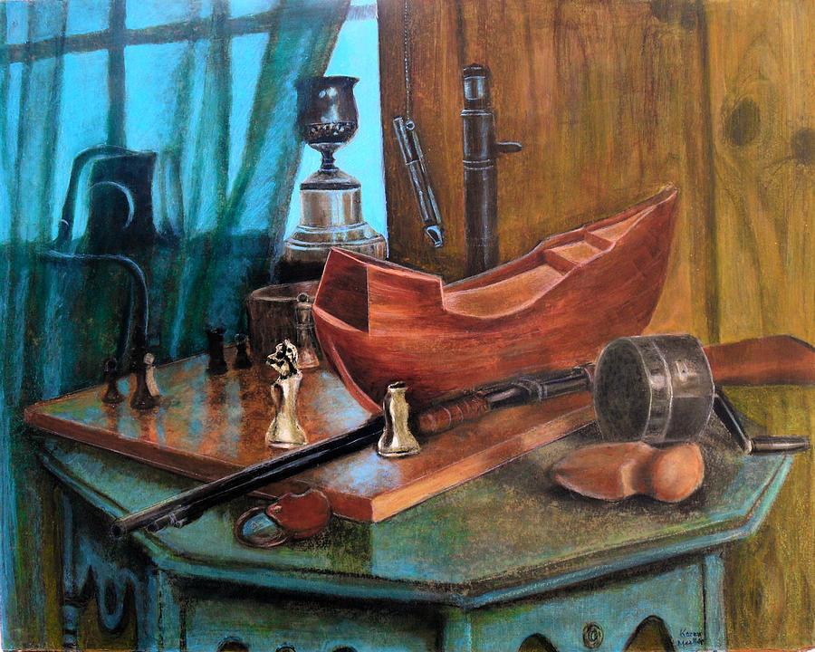Antiques Pastel - Dads Things by Karen Roncari