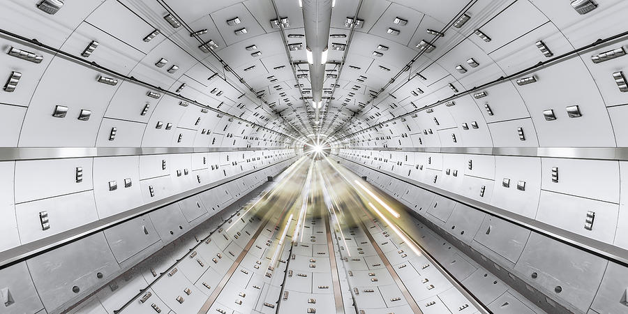 Tunnel Photograph - Daedalus by Margit Lisa Roeder