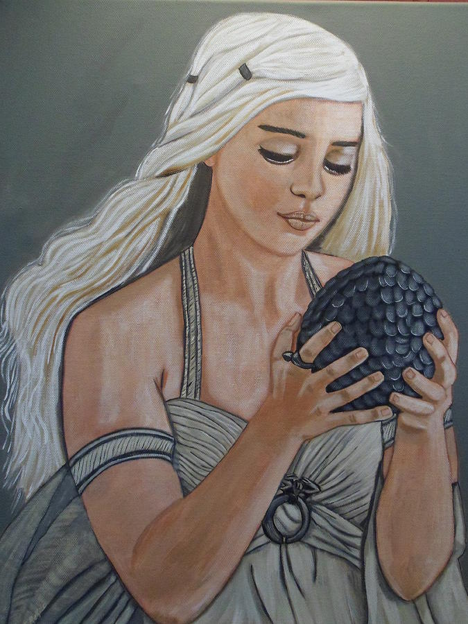 Game Of Thrones Painting - Daenerys Dragon Queen by Tammy Rekito