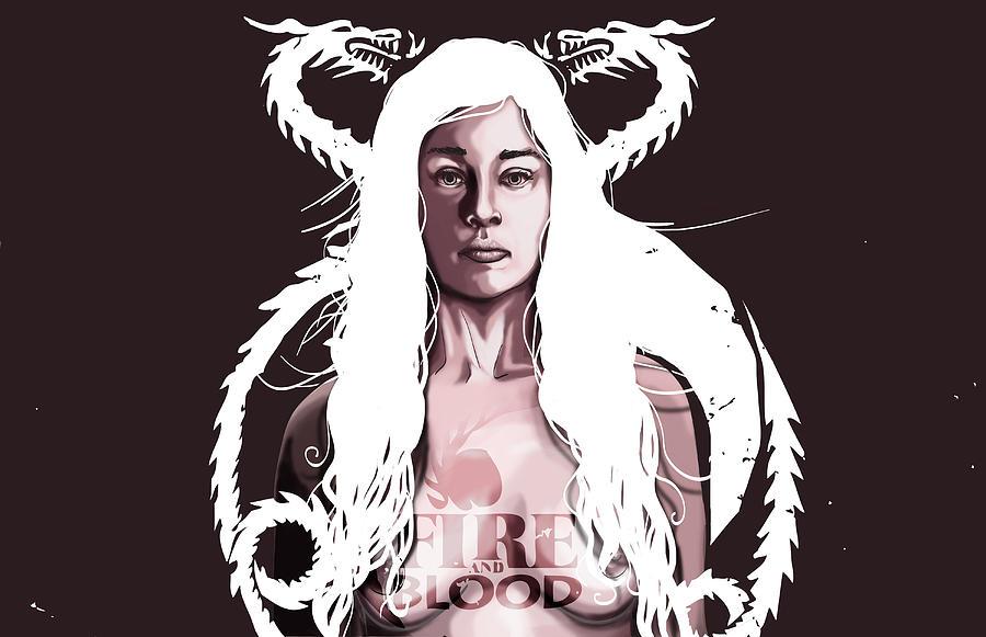 Digital Digital Art - Daenerys by Jeremy Scott