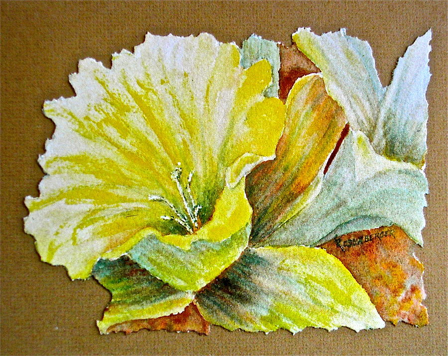 Watercolor Painting - Daff And A Half by Carolyn Rosenberger