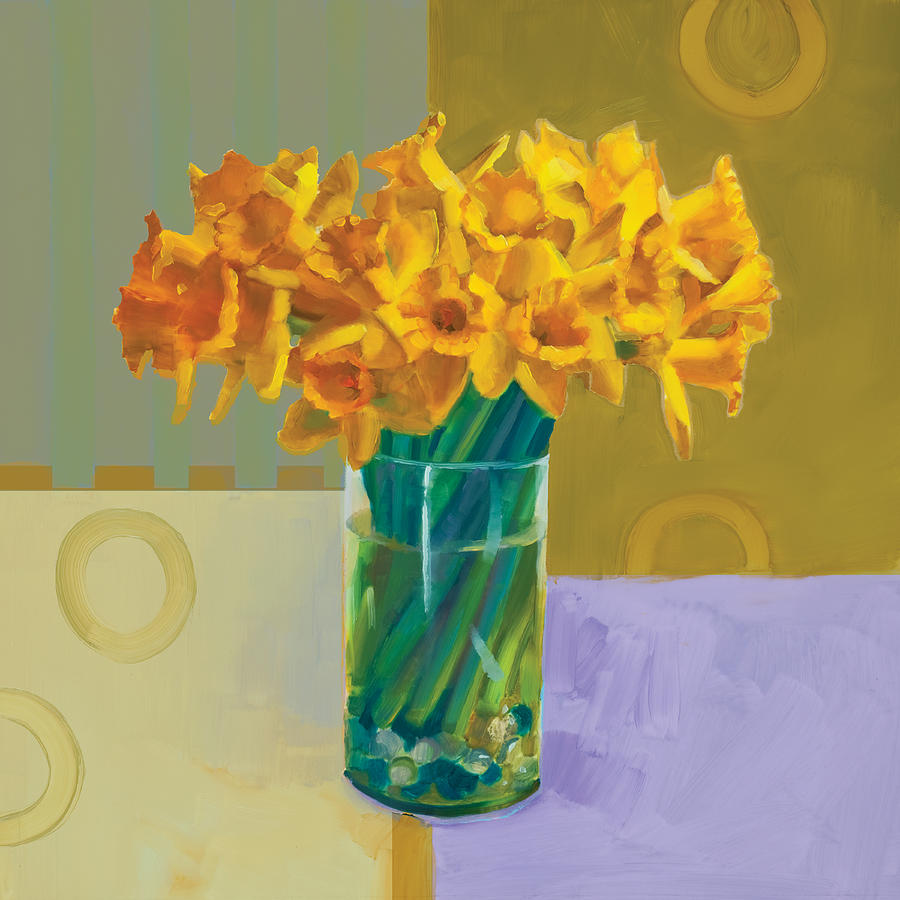 Decorative Painting - Daffodil Bronze by Cathy Locke