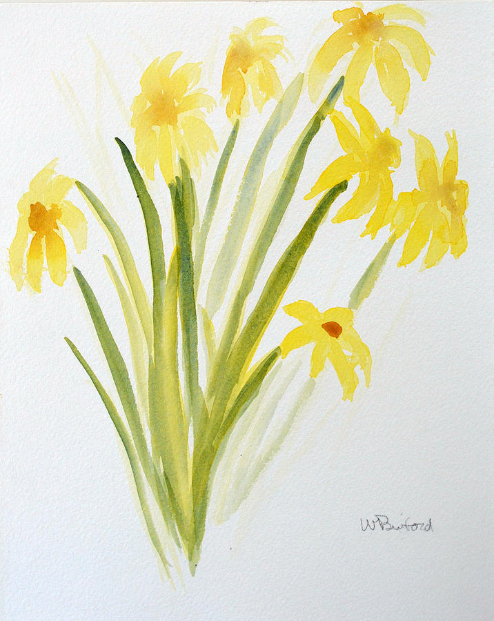 Daffodils Painting - Daffodils For Mothers Day by Wade Binford