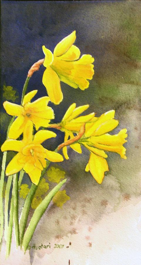 Daffodils Painting - Daffodils by Rick Huotari