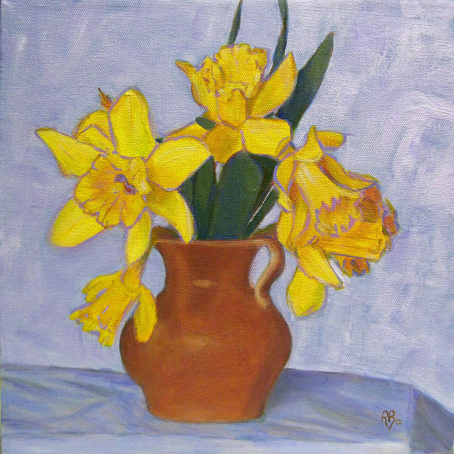 Daffodils Painting - Daffodils by Robie Benve