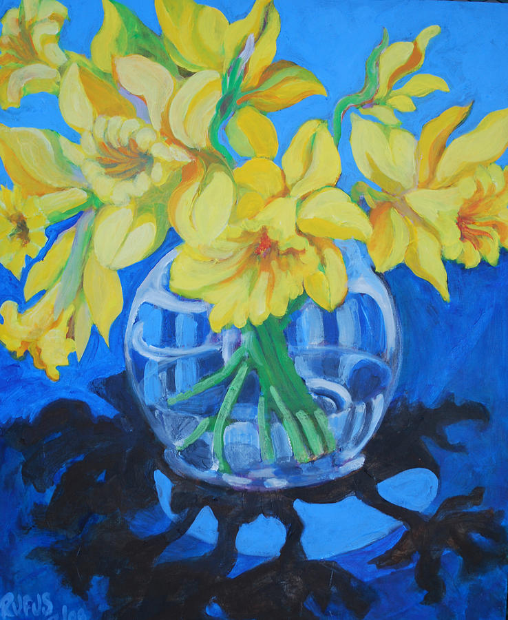 Flowers Painting - Daffodils by Rufus Norman