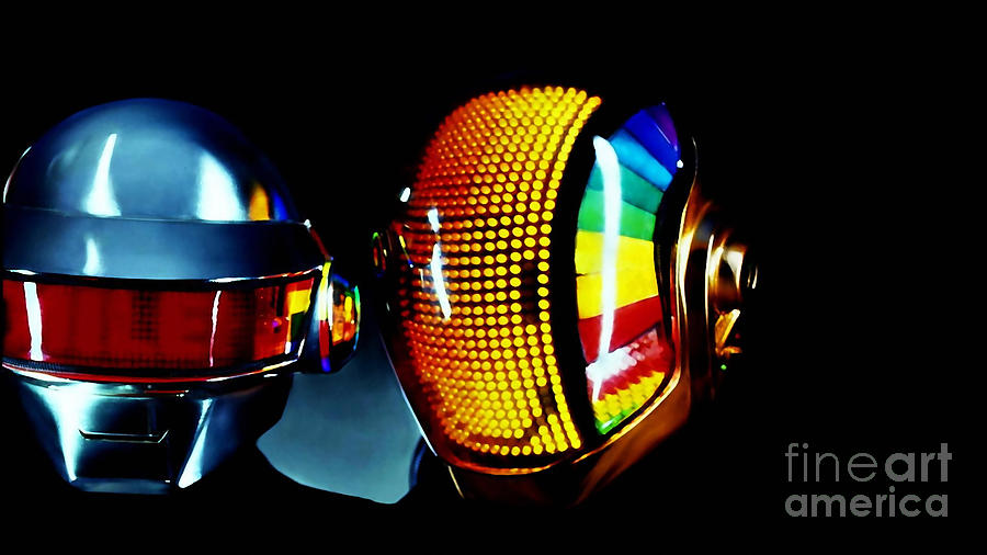 Daft Punk  Mixed Media by Marvin Blaine