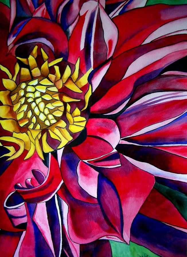 Dahlia Painting - Dahlia In Macro Style by Sacha Grossel