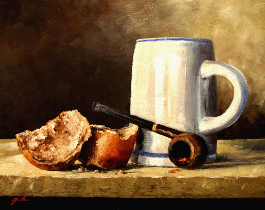Still Life Painting - Daily Bread #3 by Jim Gola