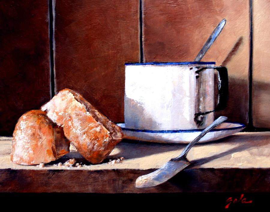 Still Life Painting - Daily Bread Ver 2 by Jim Gola