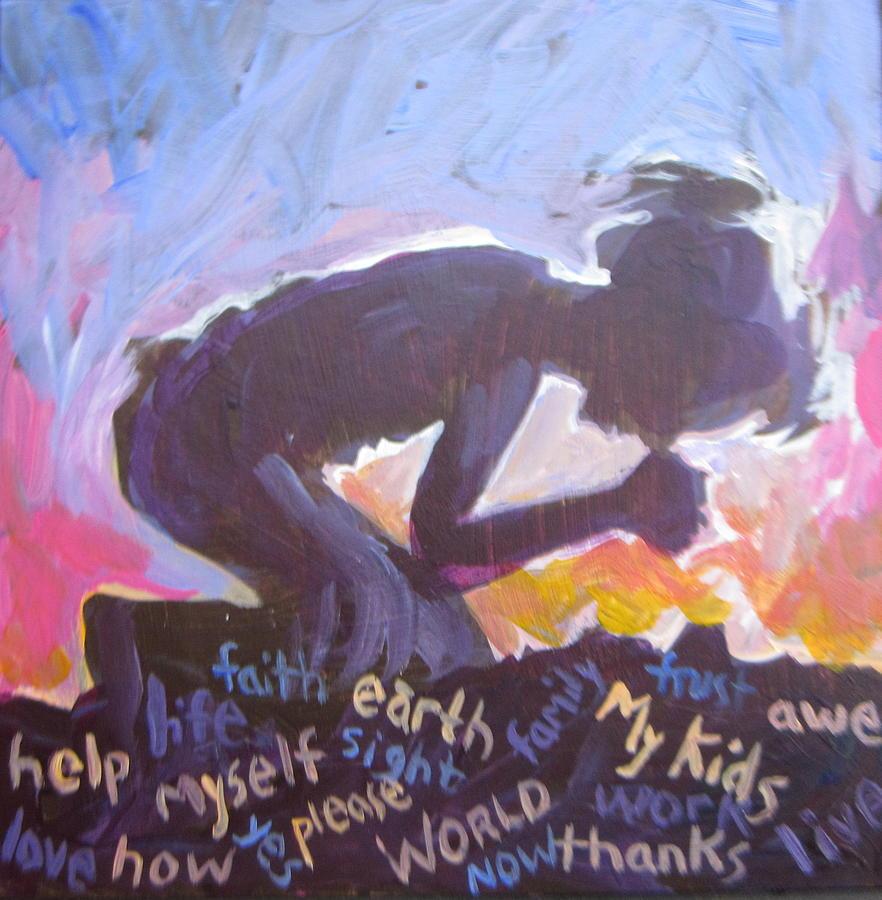 Prayer Painting - Daily Prayer by Tilly Strauss