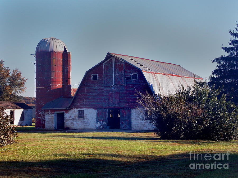 Scenic Tours Photograph - Dairy Barn by Skip Willits