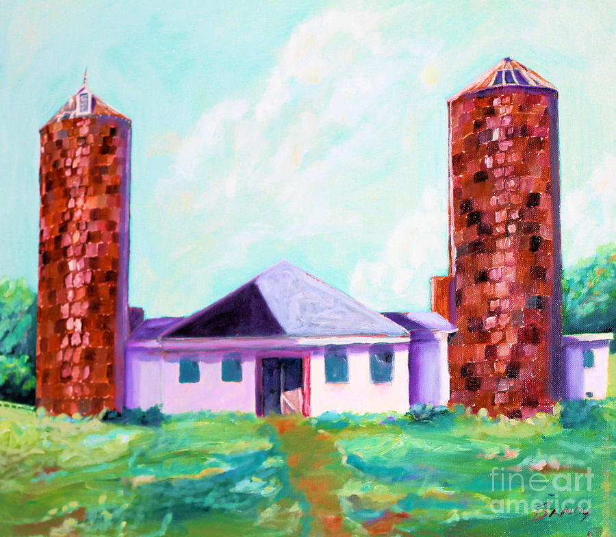 Oil Painting Painting - Dairy Barn by Todd Bandy