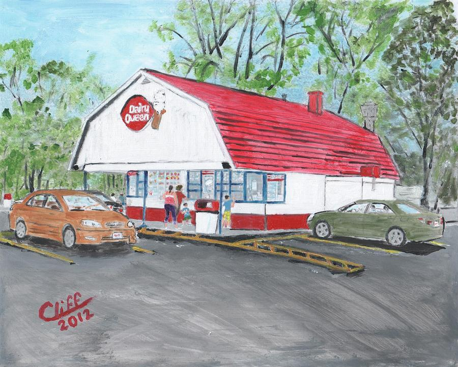 Building Painting - Dairy Queen  by Cliff Wilson