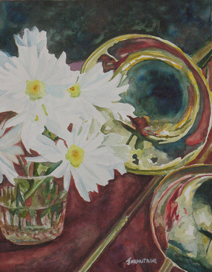 Daisies Painting - Daisies Bold As Brass by Jenny Armitage