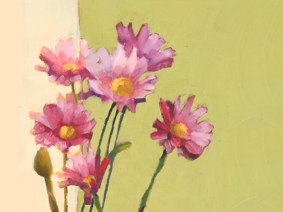 Daisies Painting - Daisies by Cathy Locke