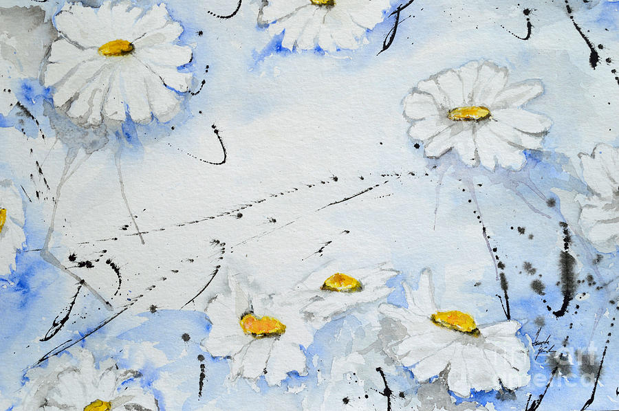 Daisies Painting - Daisies - Flower by Ismeta Gruenwald