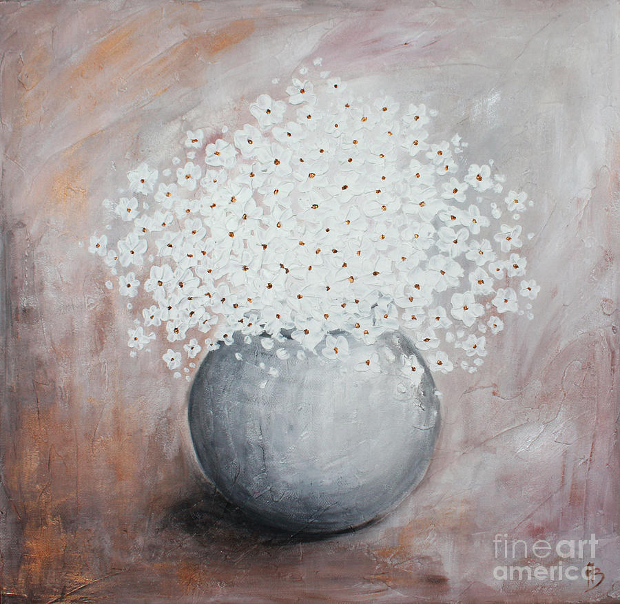 Flowers Painting - Daisies by Home Art