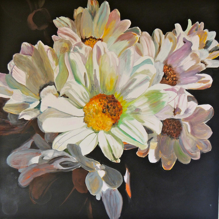 Florals Painting - Daisies by Jgyoungmd Aka John G Young MD