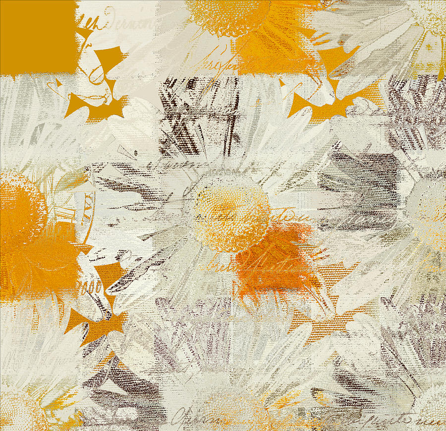Daisies Digital Art - Daising - 115115091 - 01 by Variance Collections