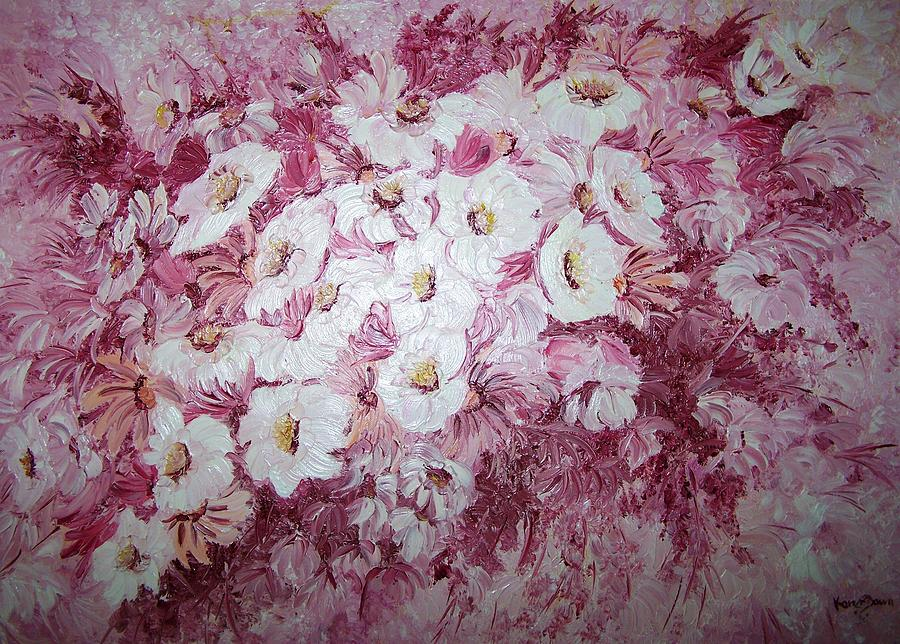 Daisy Blush Painting by Karin  Dawn Kelshall- Best