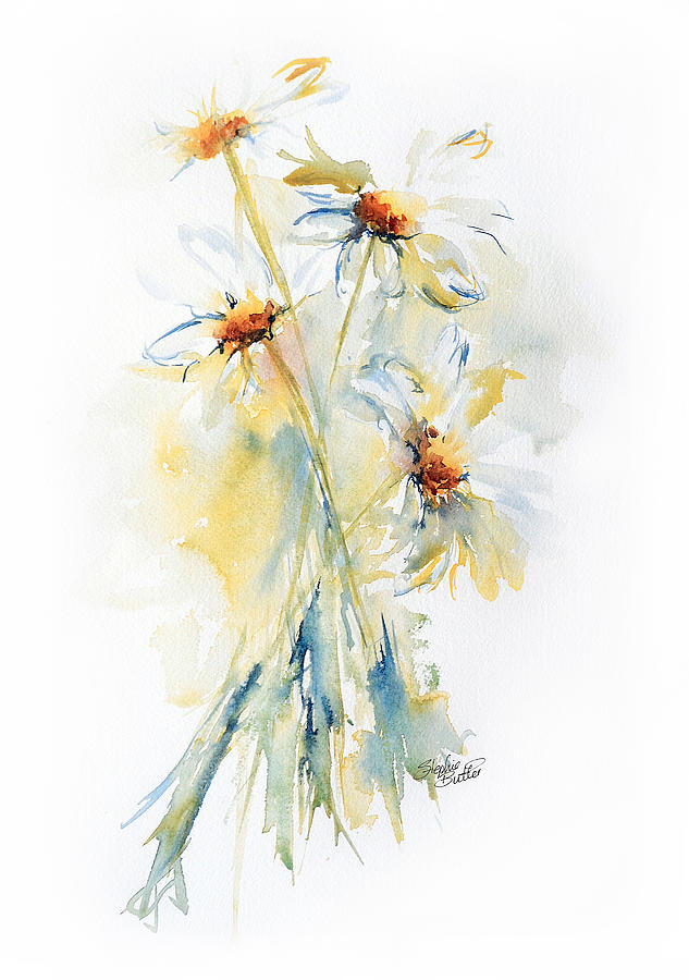 Stephie Painting - Daisy Bouquet by Stephie Butler