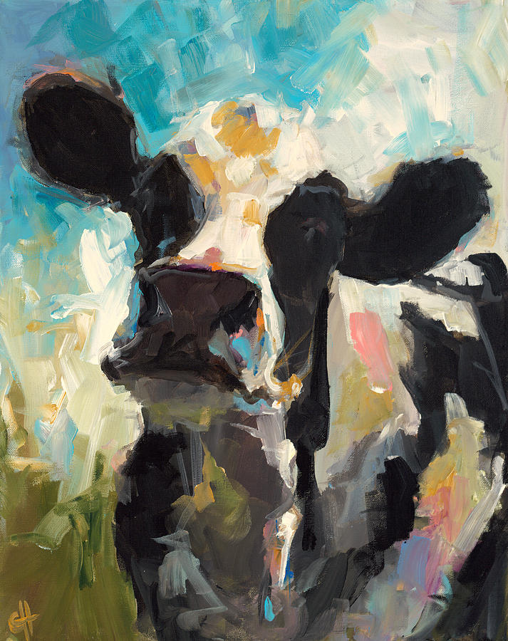 Cow Painting - Daisy by Cari Humphry